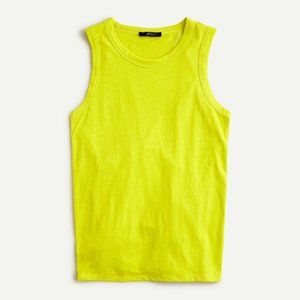 J Crew Tie-Back Tank Top Bright Kiwi Yellow NWT